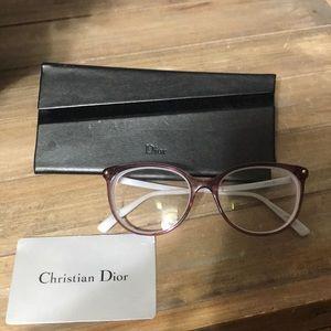 Dior round purple eyeglass frames